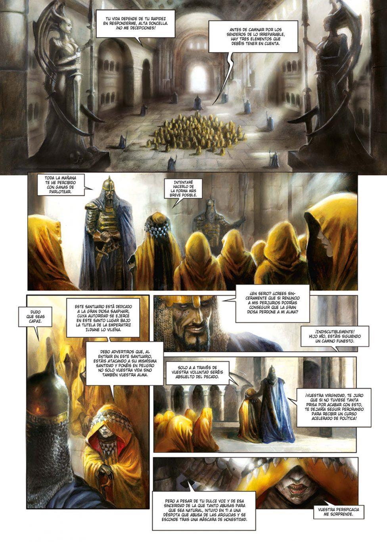 La catedral de los abismos volumen 1 página interior